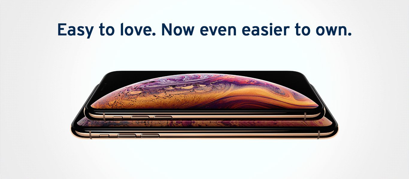 Get the brand new iPhone Xs, from RM208 per month.
