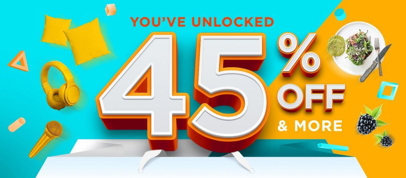45% OFF